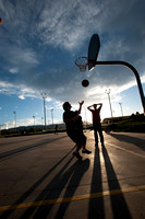Pick-up basketball at Colorado State Universlty