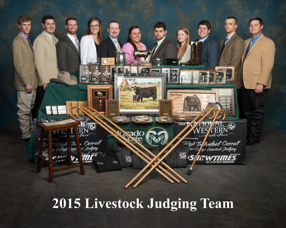 2015 Livestock Judging Team at Colorado State University